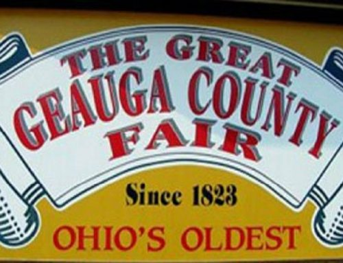 The GOP tent at the 2020 Geauga County Fair